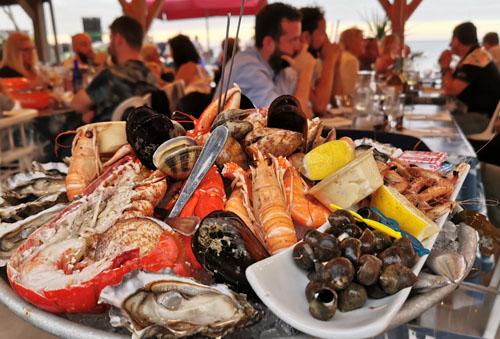plateau de fruit de mer chez les ostréiculteurs
