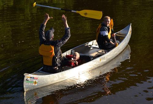 1-canoe kayac sur la Leyre Pissos